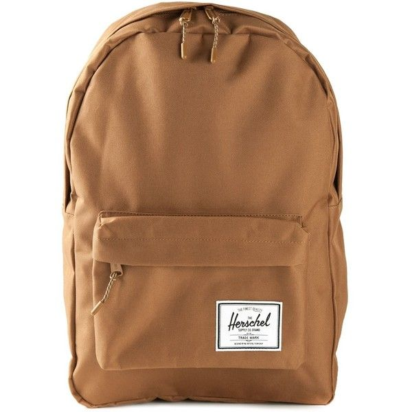 Herschel Supply Co. classic backpack ($50) ❤ liked on Polyvore featuring bags, backpacks, brown, herschel supply co., brown bag, knapsack bags, rucksack bag and brown backpack