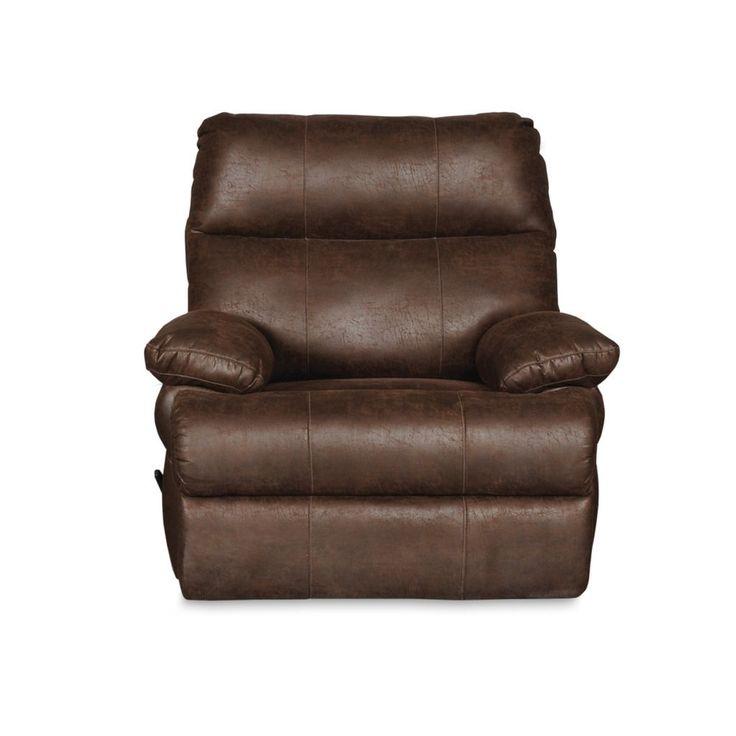 Riley Swivel Rocker Recliner Chair (Tobacco), Brown (Polyester Blend)