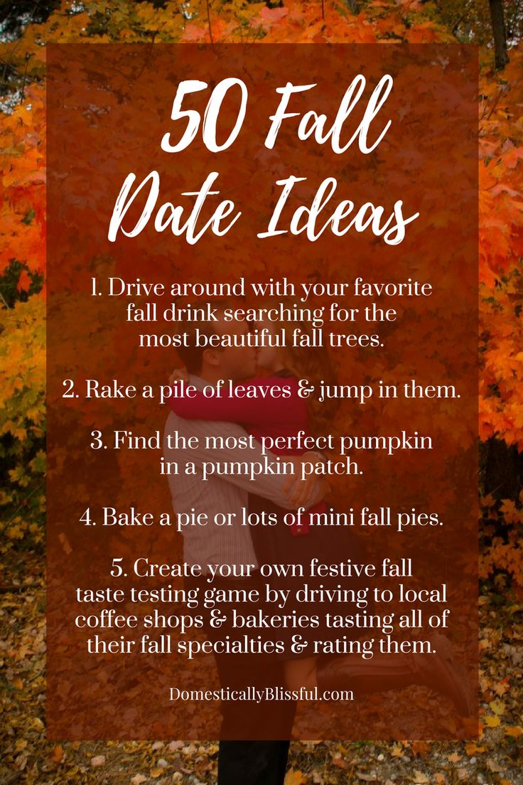 So many great FALL date ideas! I want to try them all!!