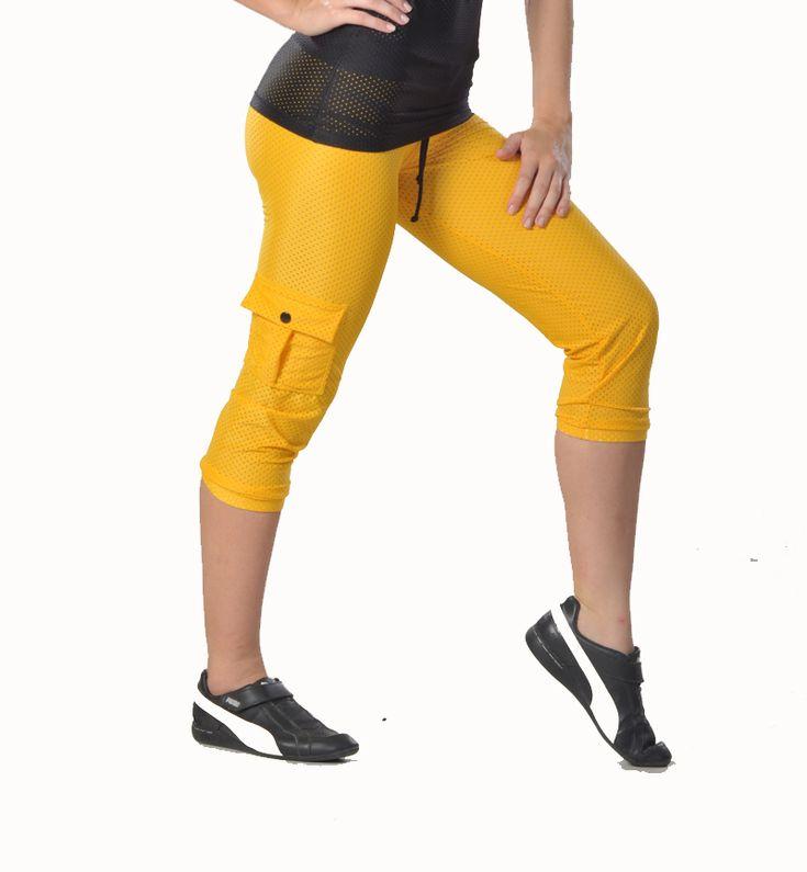 Tiempo Libre cute mesh capris!!  Womens fitness clothes