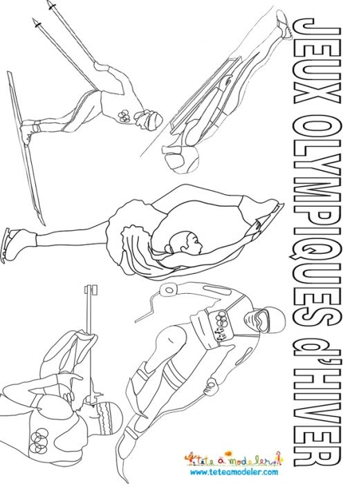 Jeux olympiques d'hiver à colorier - multisports