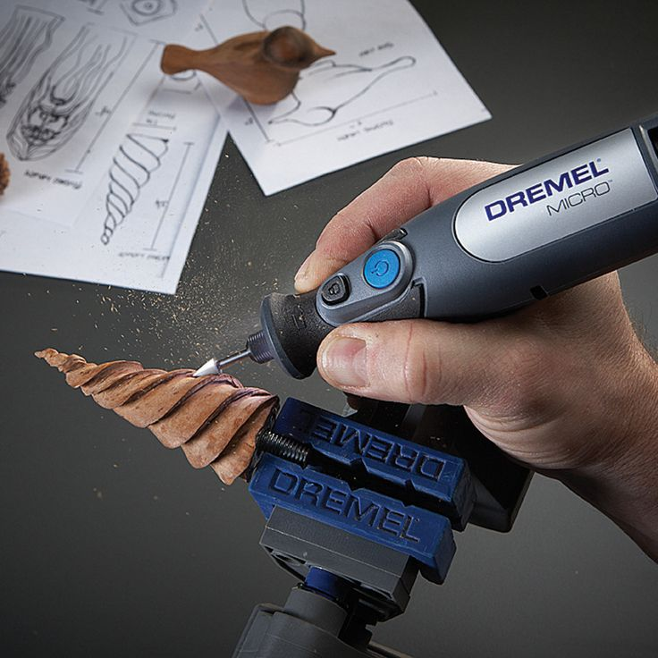 DIY Woodworking Ideas The #Dremel Micro 8050 is great for carving and small scale woodworking.