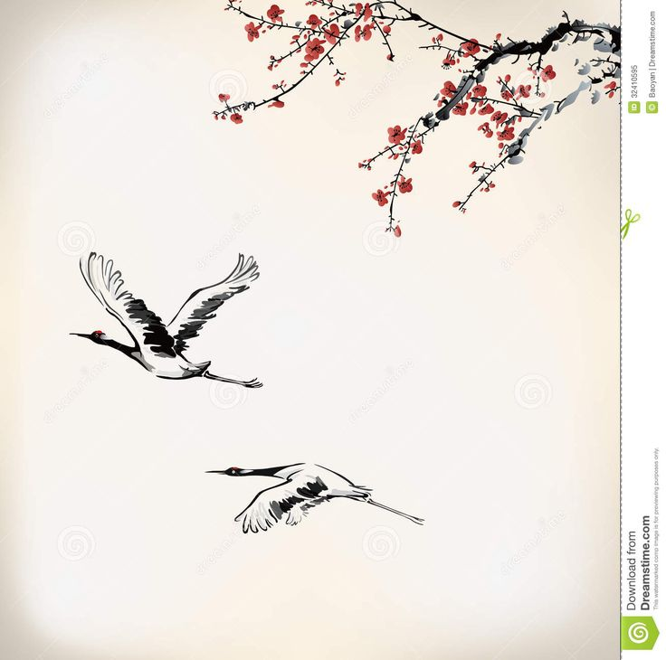 ink-winter-sweet-chinese-paint-wintersweet-birds-32410595.jpg (1310×1300)