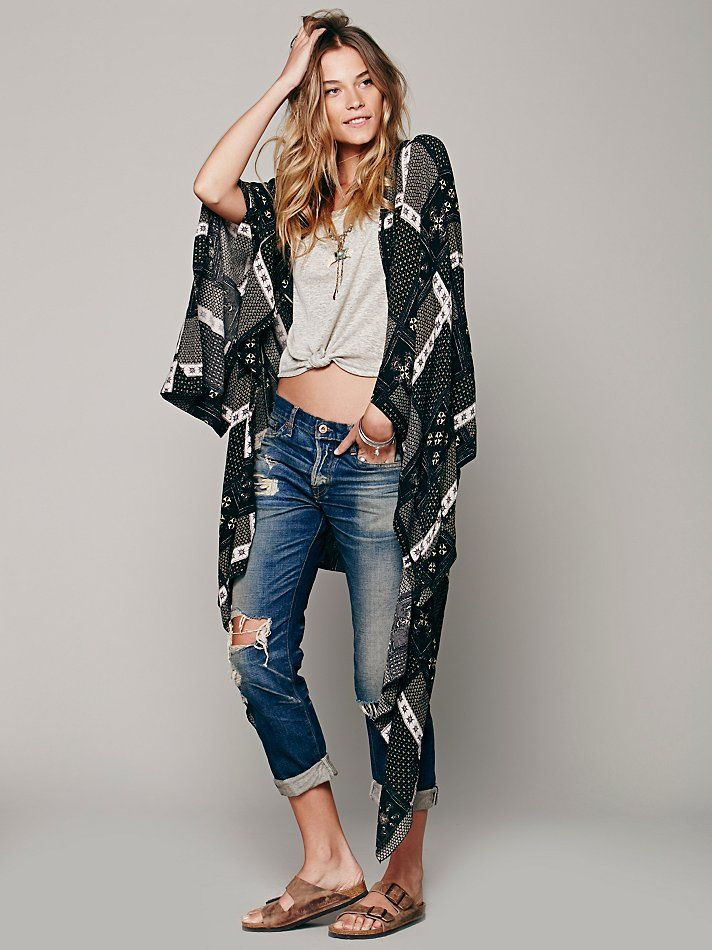 Free People Printed Duster Scarf, $198.00
