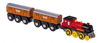Small Foot Elektrická lokomotíva k vláčikodráhe s dvoma vagónikmi