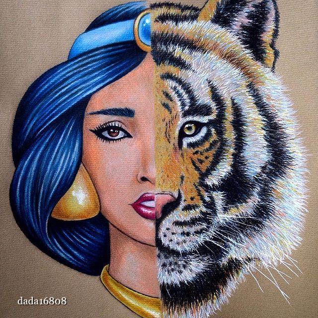 Jasmine & Rajah #half_princess#half_tiger#justlikeme