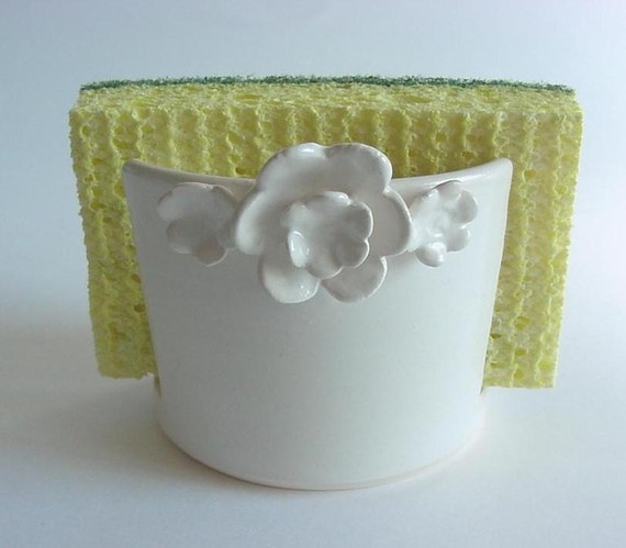 "sponge holder...handmade pottery    from ""alispots""  Etsy site"