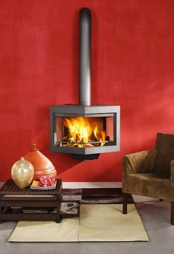 Contemporary fireplace (wood pellets closed hearth ) DIAMANT wanders