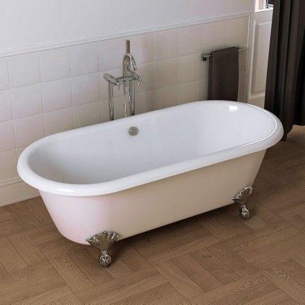 1000 id es propos de baignoire en fonte sur pinterest for Baignoire ilot grise