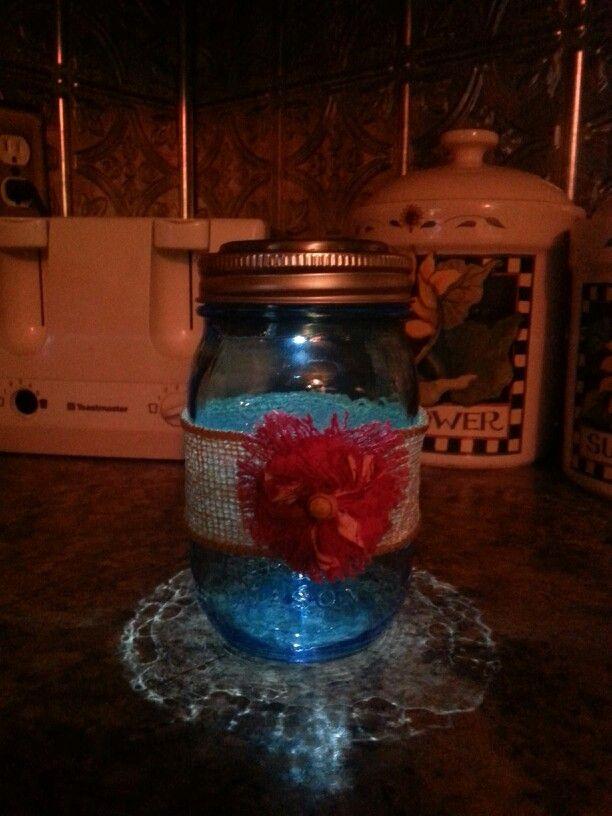 Mason jar solar night lights wine bottle decor for Diy solar wine bottle lights