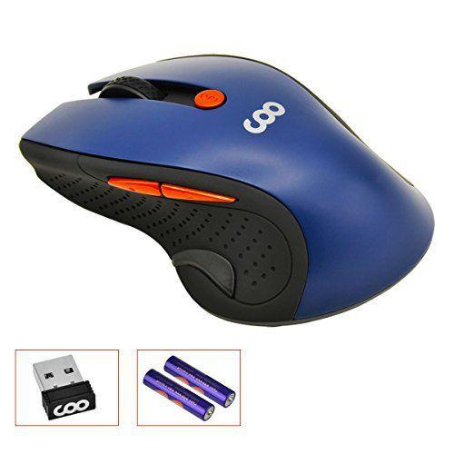 Coo 2.4GHz 1600DPI Souris de gaming mouse, 6touches souris optique sans fil avec récepteur USB pour PC Ordinateur Portable iMac MacBook…