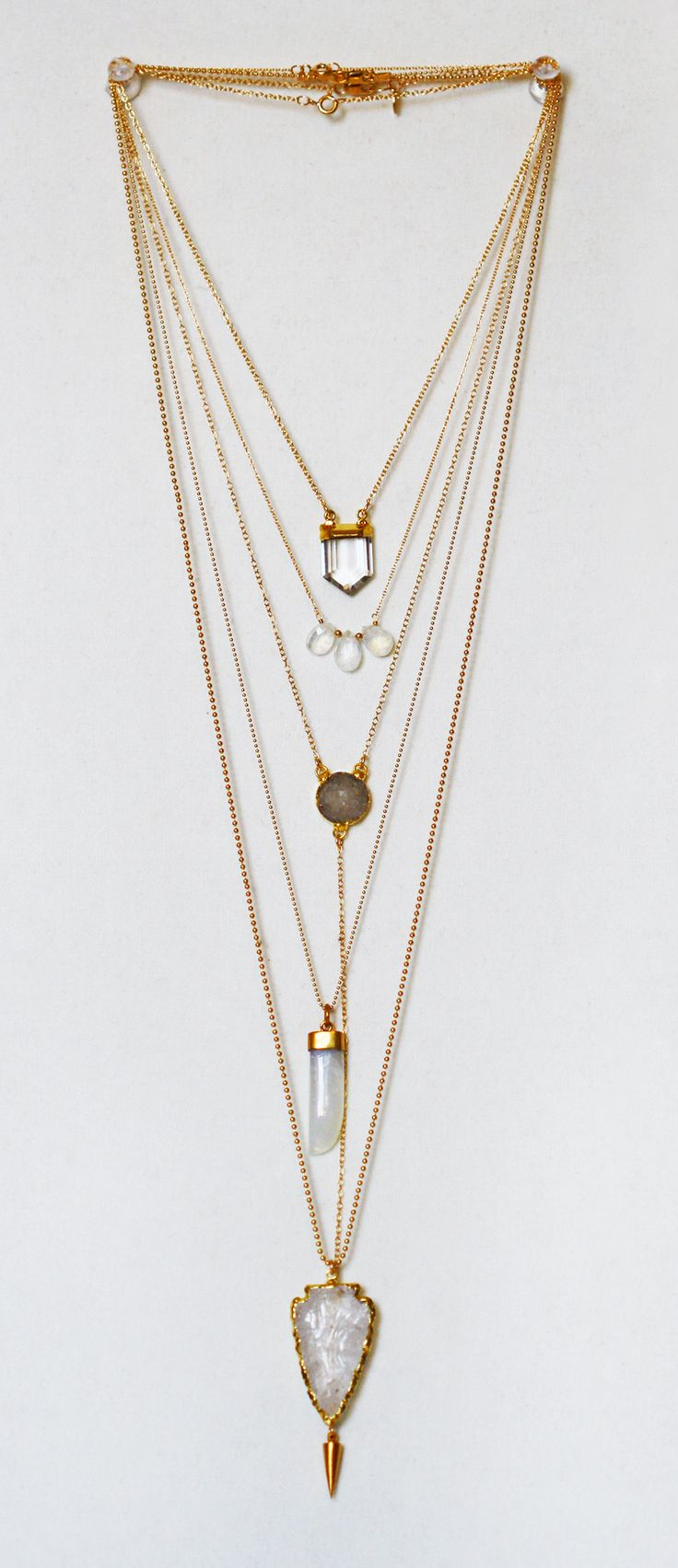 quartz + gold layers | kei jewelry