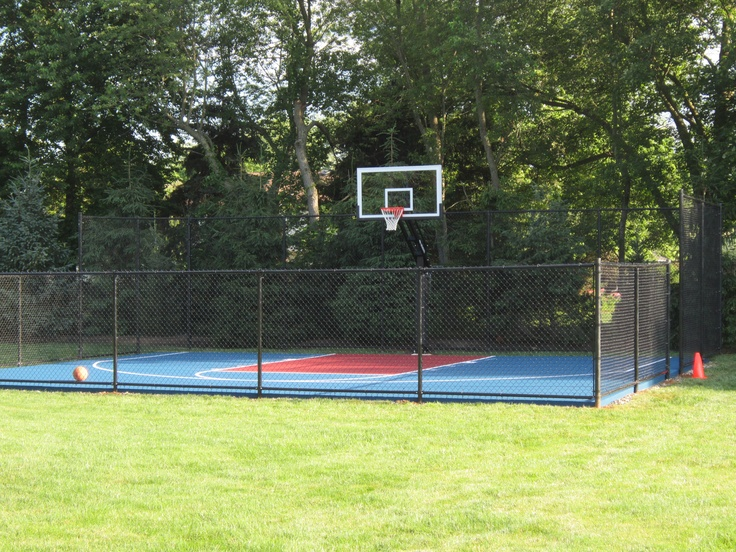 25 b sta outdoor basketball court id erna p pinterest Backyard basketball courts