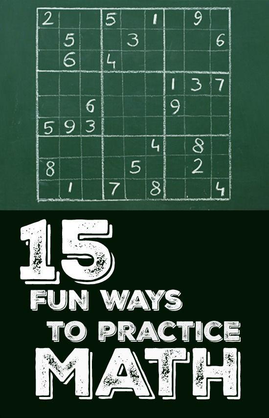 15 Fun Ways to Practice Math