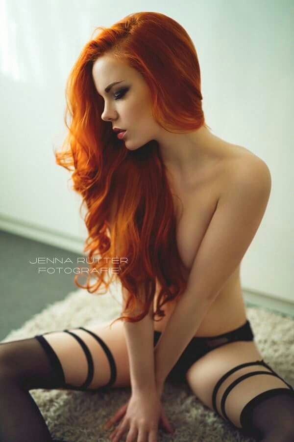 Redhead sexy stocking woman