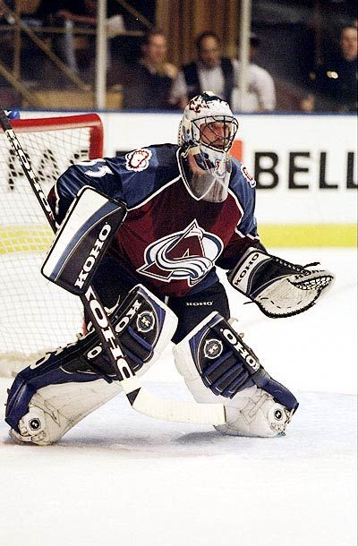 NHL Goalie Masks. Patrick Roy's mask was dope.