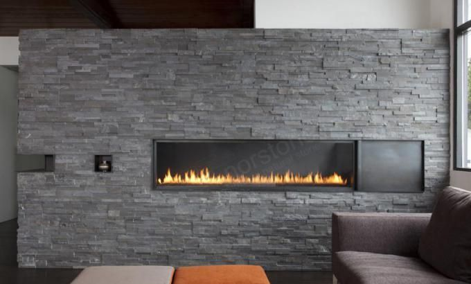 Natural Stacked Stone Veneer Fireplace | Stack Stone Veneer Fireplaces | Norstone USA
