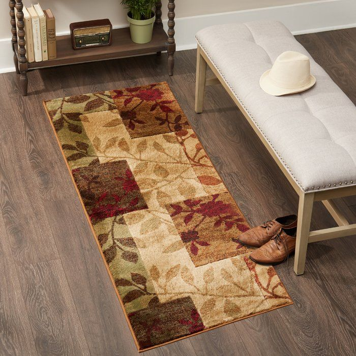 Albion Floral Beige Brown Burgundy Red Area Rug Area Rugs Red