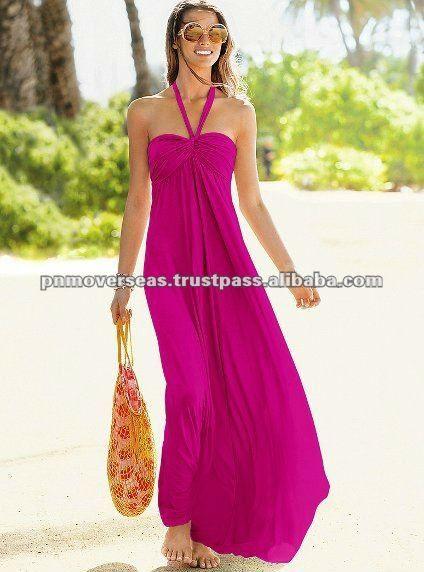 largo vestido de playa-Traje de baño  ropa de playa-Identificación del producto:127626221-spanish.alibaba.com