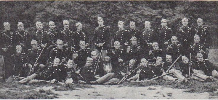 A platoon of recruits of the Danish Royal Life Guards