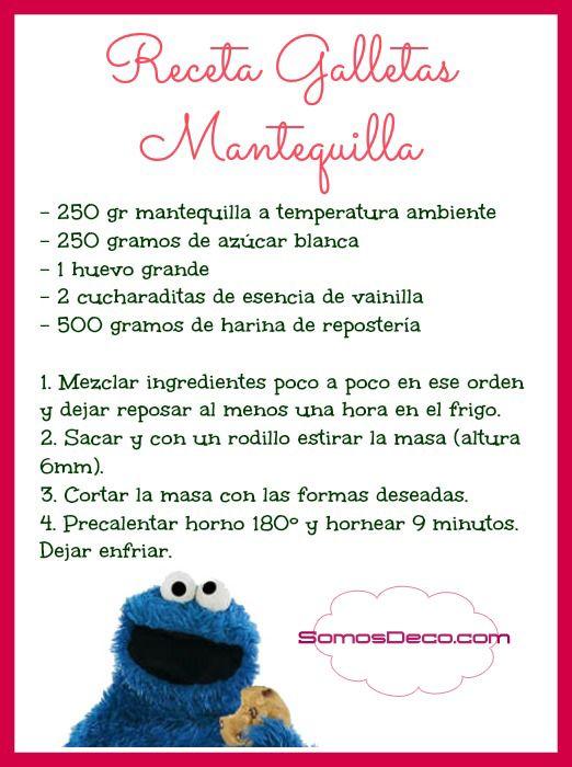RECETA BÁSICA DE GALLETAS DE MANTEQUILLA - SOMOSDECO Blog de Decoración