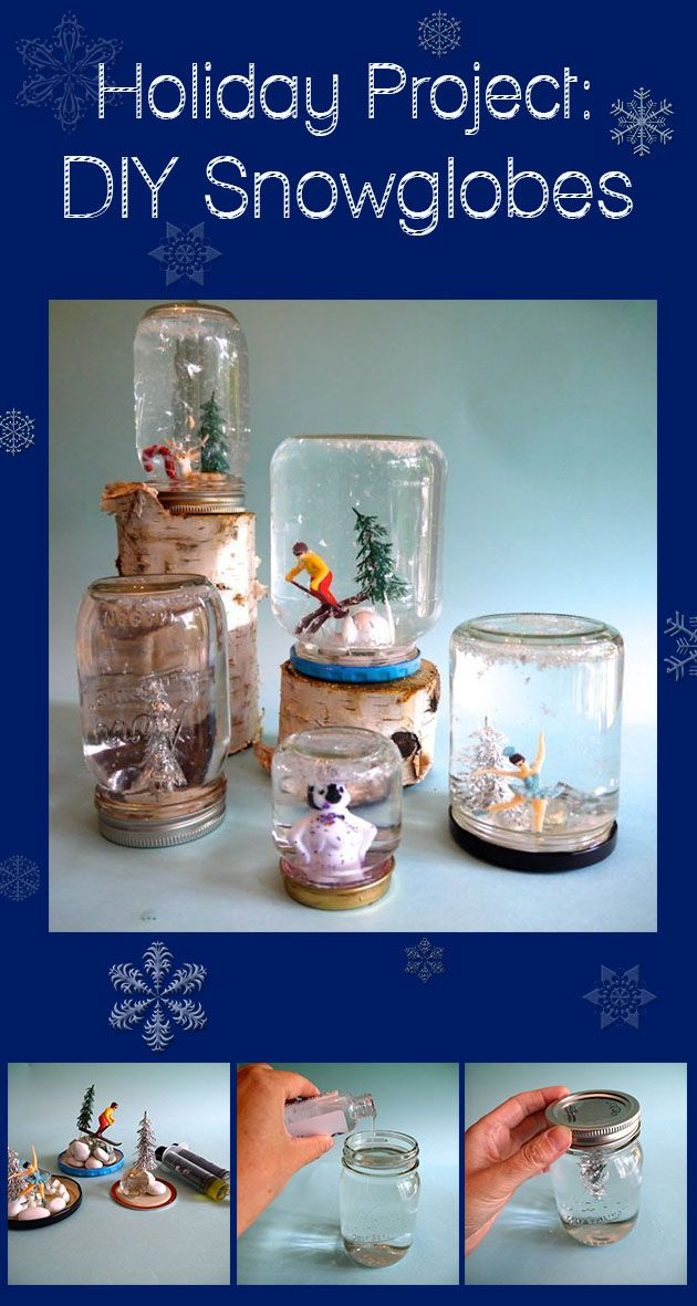 #DIY snowglobes. So easy to make, you'll start to make them as presents every year.