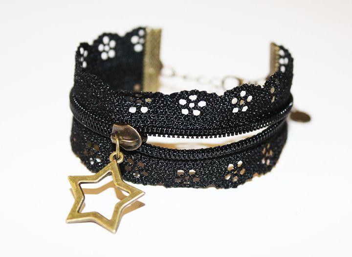 bracelet à partir d'une fermeture éclair