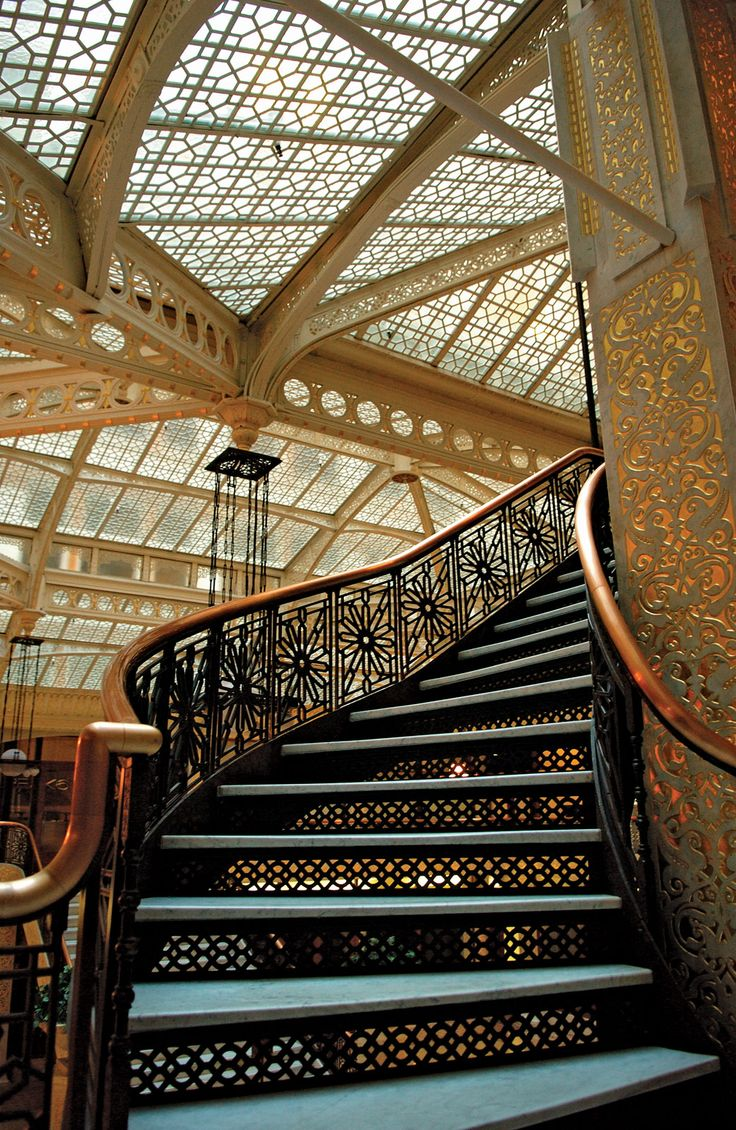 Staircase in Rookery Building.