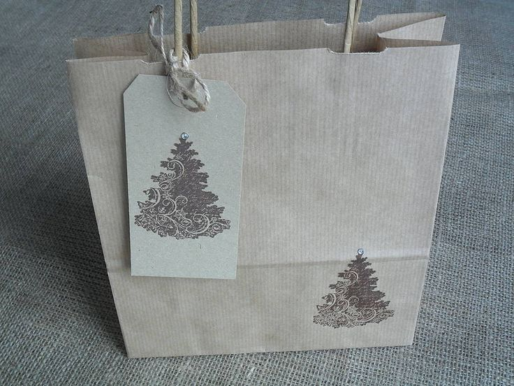 Christmas Tree Gift Bag And Tag