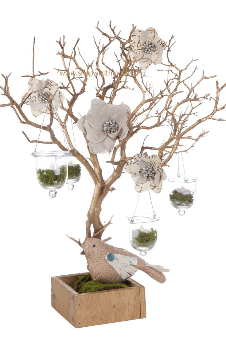 Our adorable natural manzanita branch trees are ready to decorate your next  event! Each tree