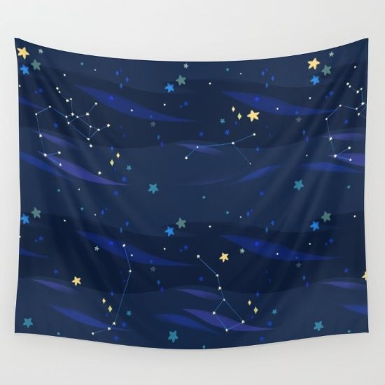 Blue Universe Wall Tapestry
