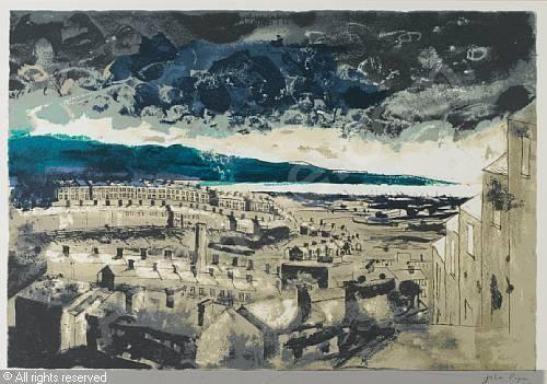 """Swansea East"" by John Piper, 1989 (screenprint)"