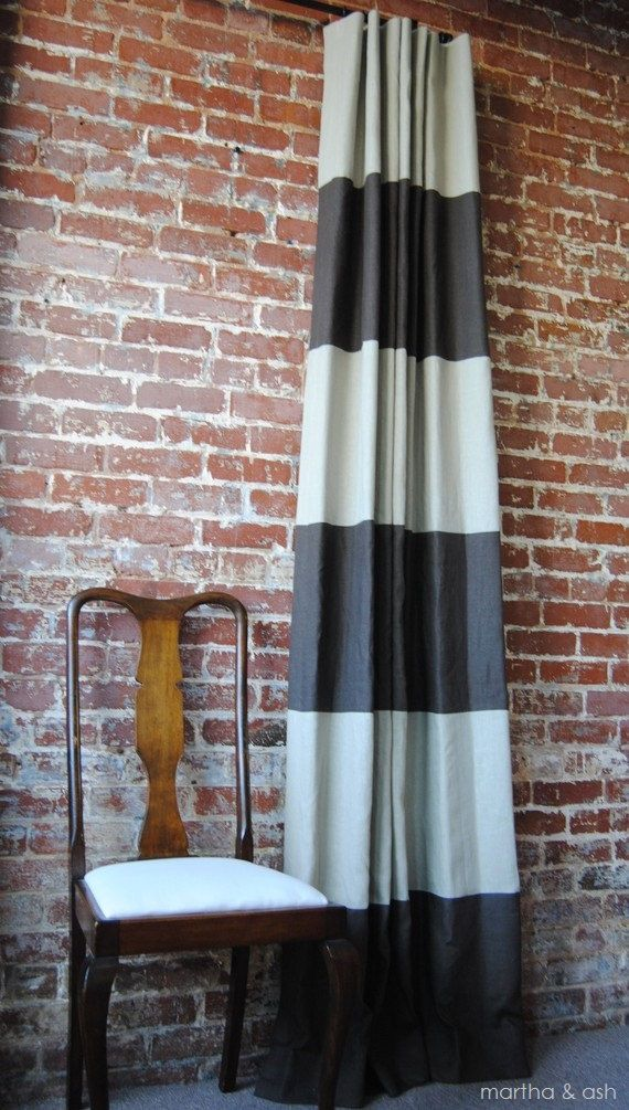 Hey, I found this really awesome Etsy listing at http://www.etsy.com/listing/67911483/96l-x-46w-striped-drapery-panel-pick