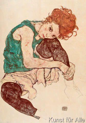Egon Schiele - Sitzende Frau