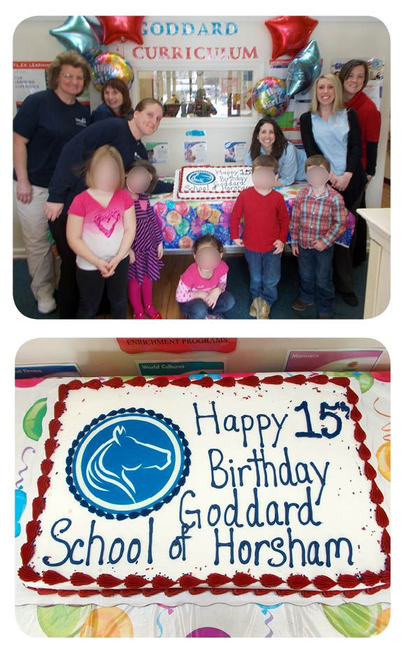 The Goddard School located in Horsham, PA celebrated its 15th birthday! The children enjoyed cake and participated in many birthday-related activities throughout the week. The teachers pictured here have been at The Goddard School located in Horsham since the School first opened in 1999!