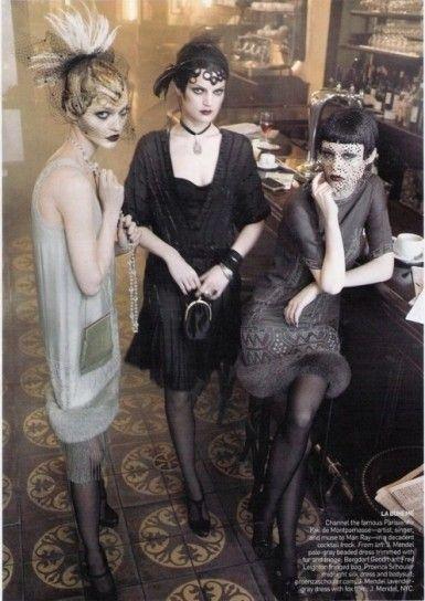 Trucco anni 20 dark Make up stile Charleston classico.