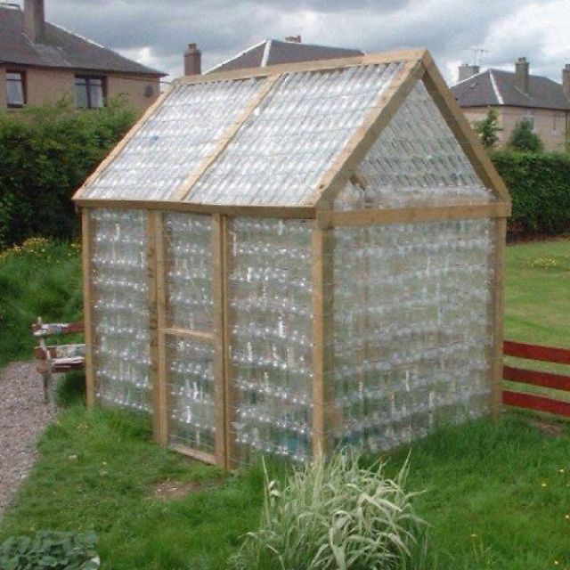 A greenhouse made from 20 oz recycled water/soda bottles! I don't drink soda, and I only rarely buy bottled water, but I'll bet I have enough friends and acquaintances who do that I would be able to build this project someday. Not yet, though. Don't start saving your bottles for me until I'm ready! :)
