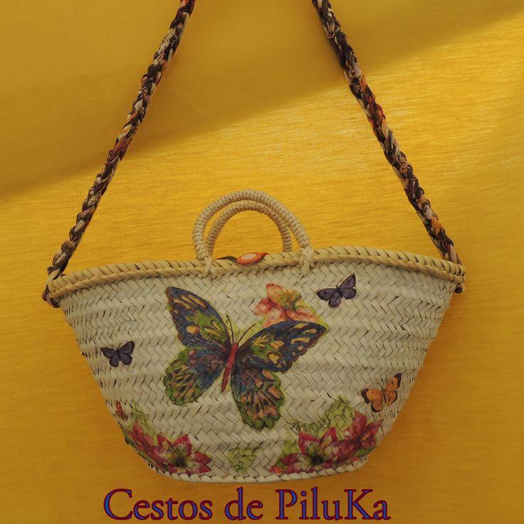 24 best images about capazos cestos de playa piluka on - Cestos de tela ...