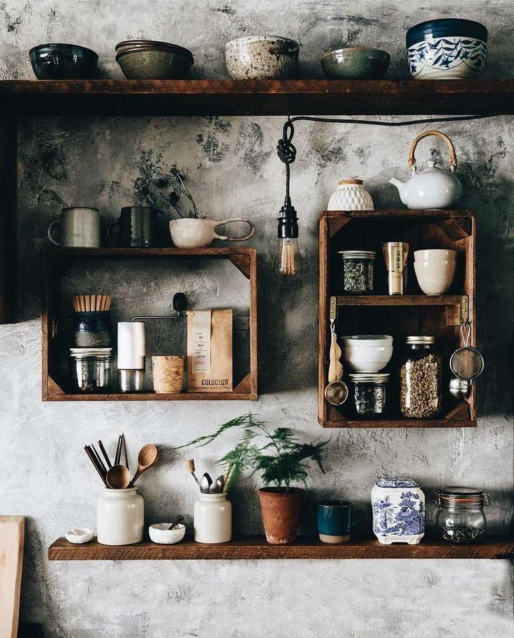 47 Cool Kitchen Decor Offene Regale Ideen Haus Dekoration