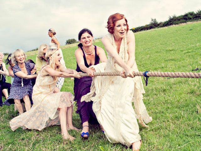 Wedding tug of war?