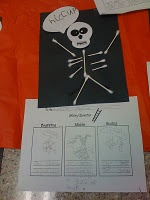 Skeleton hiccups writing activity sheets