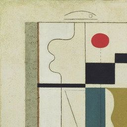Willi Baumeister - Figurate with Red Ellipse, 1920 | MoMA