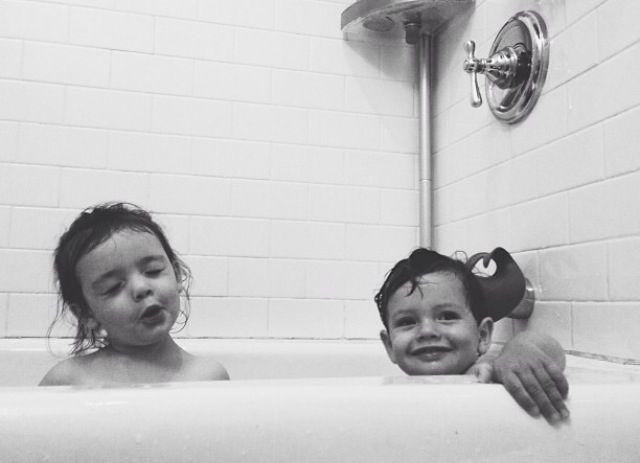 Bathing time. C. Won't. Stop. Singing. Ever