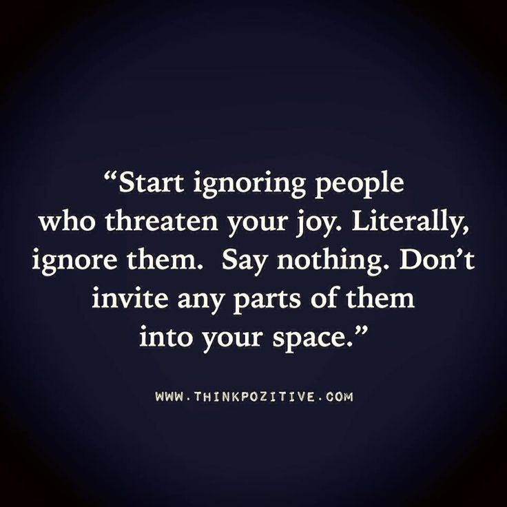 Start Ignoring People
