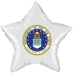 us air force celebration party supplies - air force classic white star balloon
