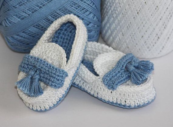 Crochet Baby Loafers by LeftyStitches on Etsy