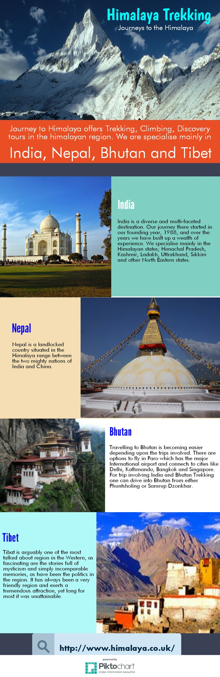 Journey to Himalaya offers Trekking, Climbing , Discovery tours in the Himalayan region. We are specialise mainly in India, Nepal, Bhutan and Tibet.