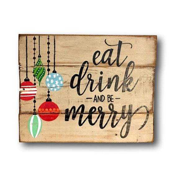 **All orders placed by 12/3/16 will be shipped in time for delivery by 12/24/16.** Vintage / Rustic Christmas decor. Hand painted on reclaimed wood. Sign has a white distressed background with black lettering & multi colored Christmas ornaments. Sign is available in two sizes: 12 wide x 9 tall 16 wide x 12 tall (pictured) This sign can be hung on a wall or a front door. It would be perfect for your mantle or fireplace decor! Makes a great Christmas gift! As each sign is custom made to…