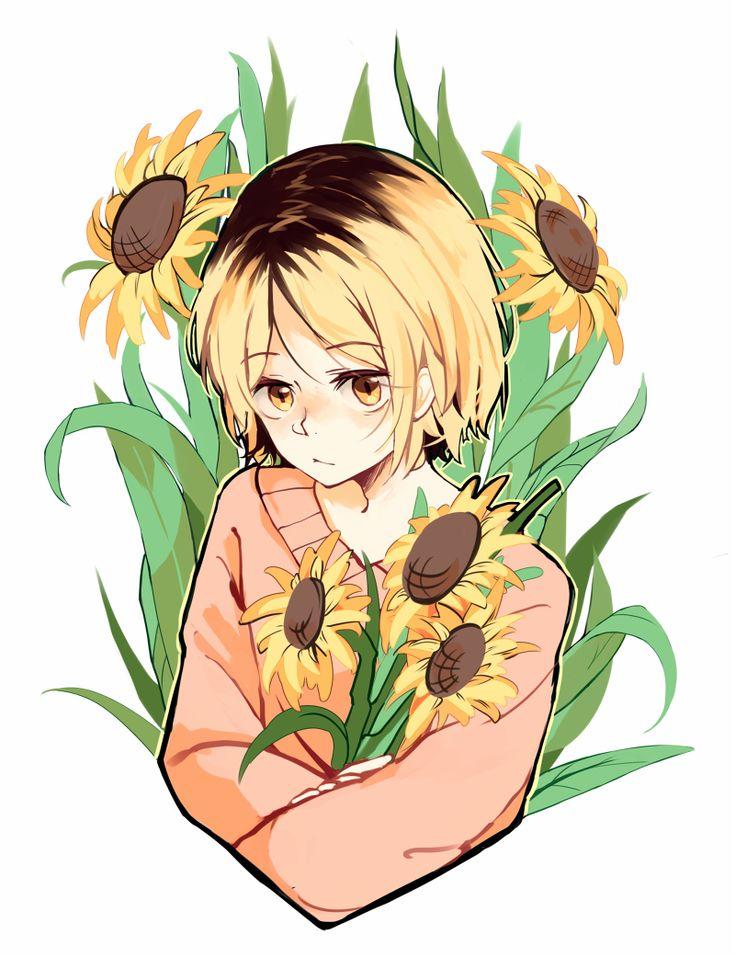 sunflower boy . Kenma Kozume <3                                                                                                                                                                                 Más