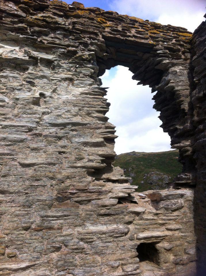 De ruïne van het kasteel van Koning Arthur in Tintagel.
